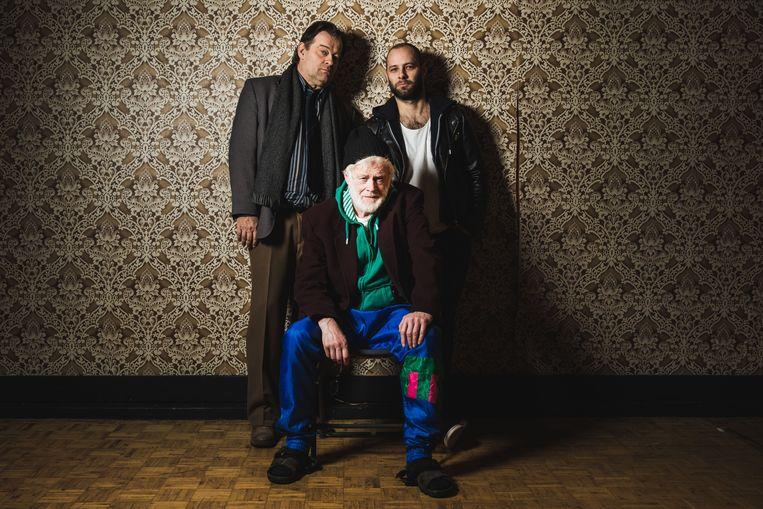 Bob De Moor met tegenspelers Paul Ooghe en Pieter Clinck, vanaf volgende vrijdag in 'De Huisbewaarder' in Box.