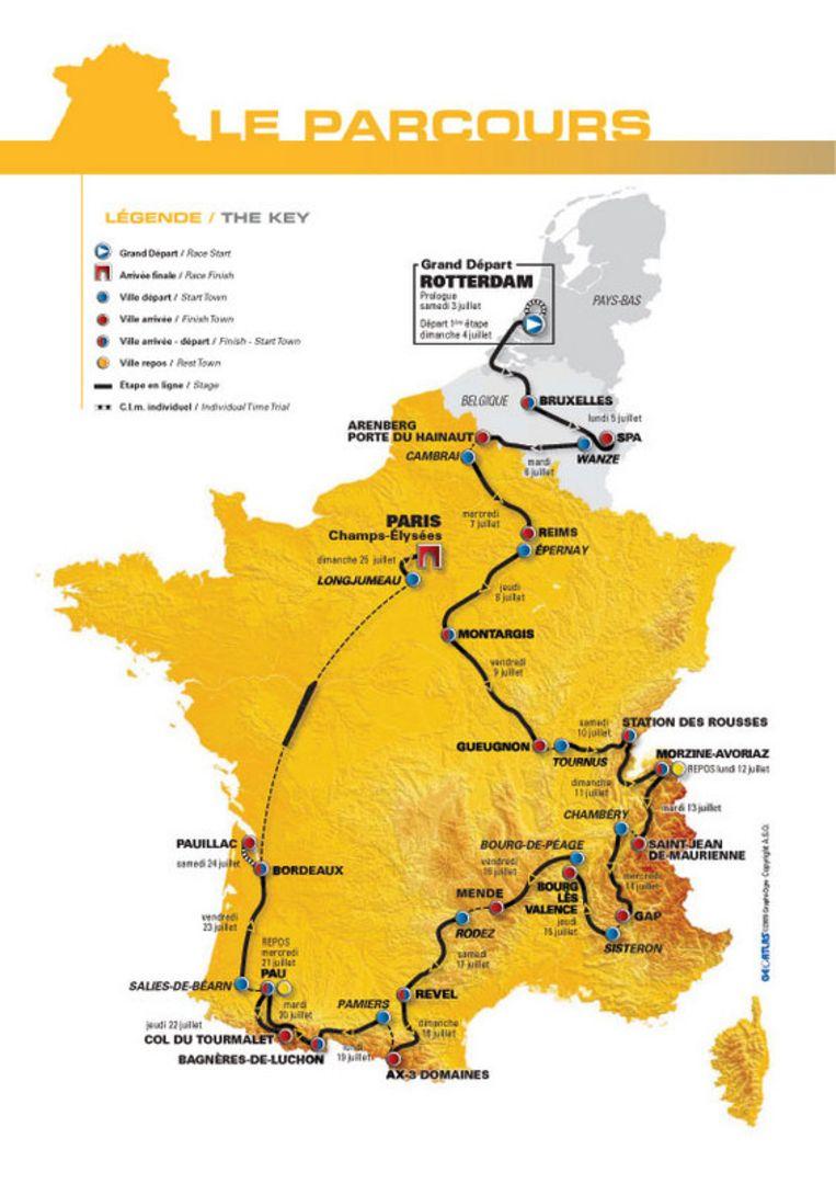 ''Het wordt één groot gevecht'', zei Tourdirecteur Christian Prudhomme woensdag in Parijs over het parcours 2010. Beeld