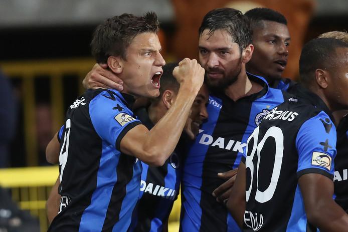 Vossen scoort de winnende voor Club Brugge.