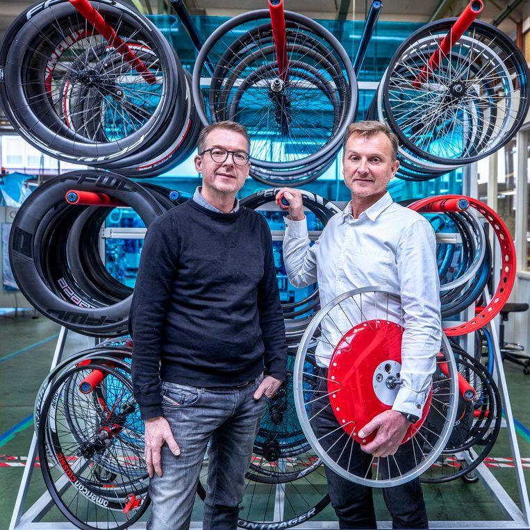 Directeuren Wouter (links) en Maarten van Doornik. Beeld Raymond Rutting / de Volkskrant