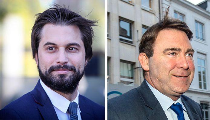 Georges-Louis Bouchez et Denis Ducarme ont participé sur la RTBF au débat de l'entre-deux-tours pour la présidence du MR.