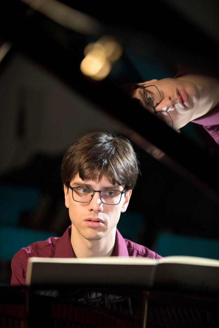 Laurens de Man (26), eigenlijk is hij meer musicus dan pianist.  Beeld Werry Crone