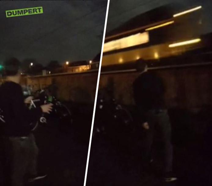 Jongen (18) uit Staphorst gooit bierflesje tegen rijdende trein.