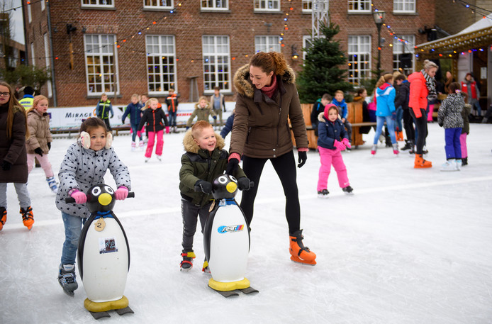 Beeld van de ijsbaan in Geldrop.