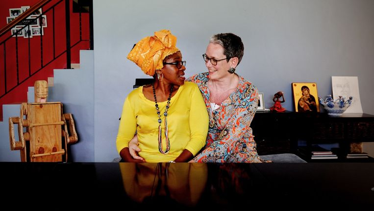 Mpho Andrea Tutu en Marceline van Furth Beeld Getty Images