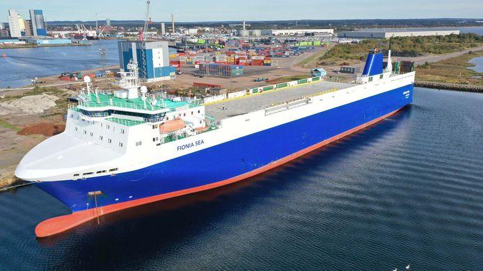 Dit schip zal tussen Finland en Zweden en Zeebrugge varen.
