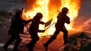 LIVE. Meer dan half miljoen vreedzame betogers in Barcelona, rellen en branden bij aparte manifestatie