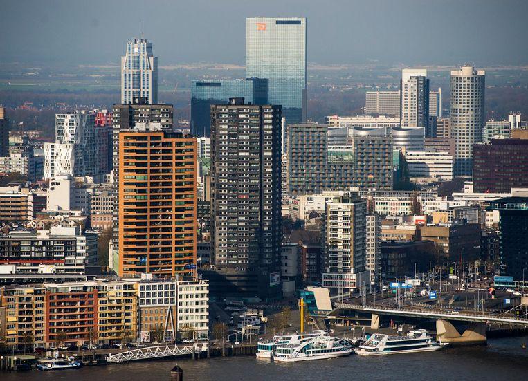 Luchtfoto van het centrum van Rotterdam. Beeld ANP