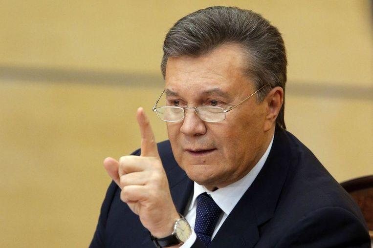 De Oekraïense ex-president Viktor Janoekovitsj. Beeld reuters