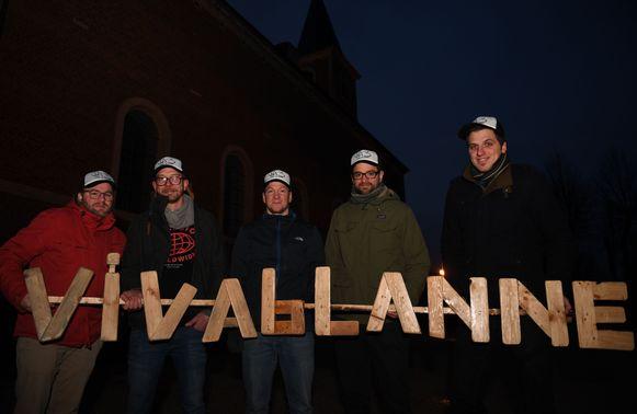 Het bestuur van Viva Blanne die in mei Blanne Feest organiseren