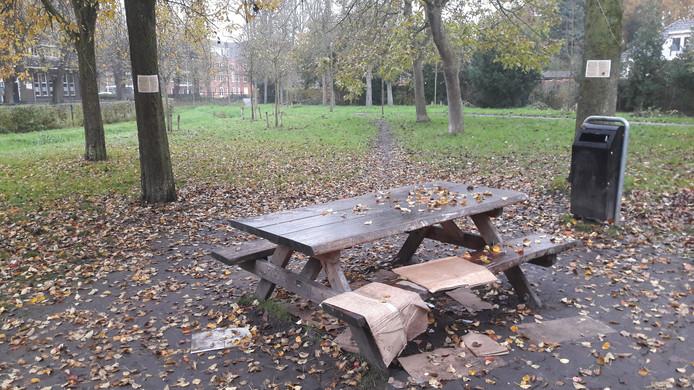 Het bankje in het park, waar dak- en thuislozen elkaar ontmoeten.