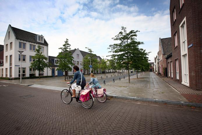 De wijk de Woerd in Leidsche Rijn met retro pleintjes en woningen.