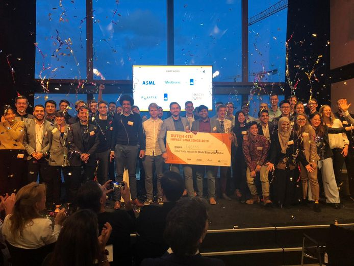 Team ECsens van de Universiteit Twente won de innovatiechallenge van de vier technische universiteiten
