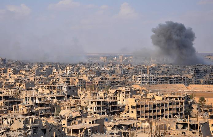 De Syrische stad Deir Ezzor waar de Russische huurlingen omkwamen
