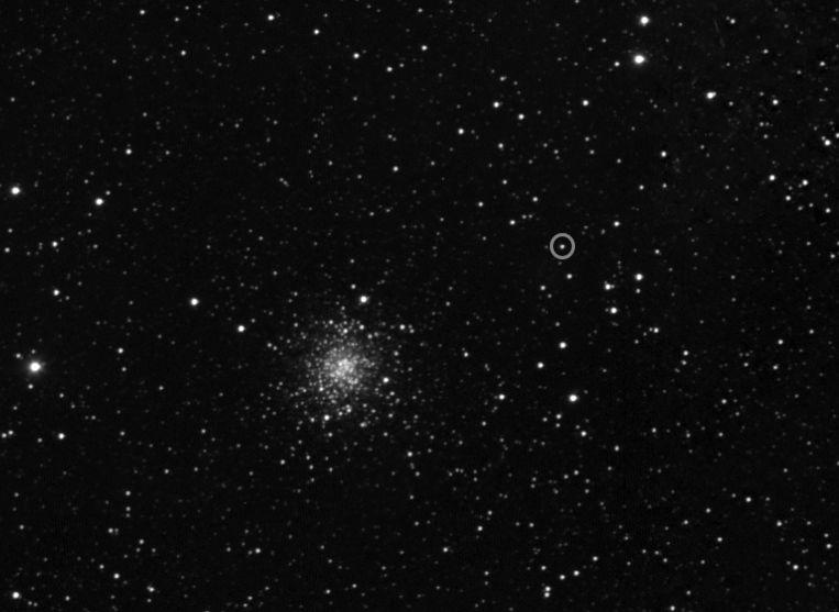 Komeet 67P/Churyumov-Gerasimenko gezien vanuit ruimtesonde Rosetta, op vijf miljoen kilometer afstand. Beeld ESA