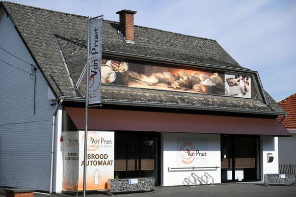 De huidige bakkerij Van Praet in de Schoolstraat in Rotselaar