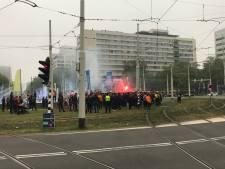 Fans Galatasaray zorgen voor verkeersopstopping in Rotterdam