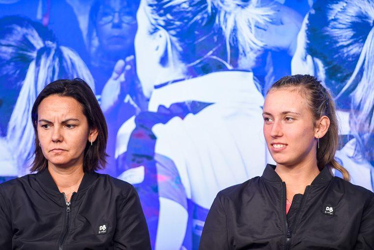 Dominique Monami en Elise Mertens.