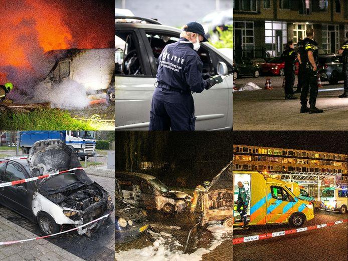 De afgelopen maanden vonden er meerdere autobranden en schietpartijen plaats in de Dordtse wijk Crabbehof.