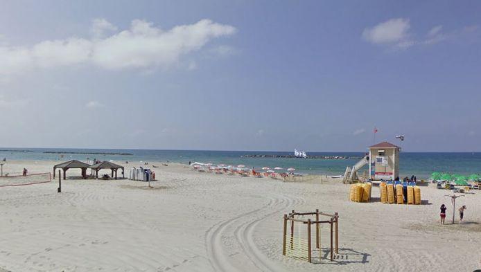 Strand bij Tel Aviv.