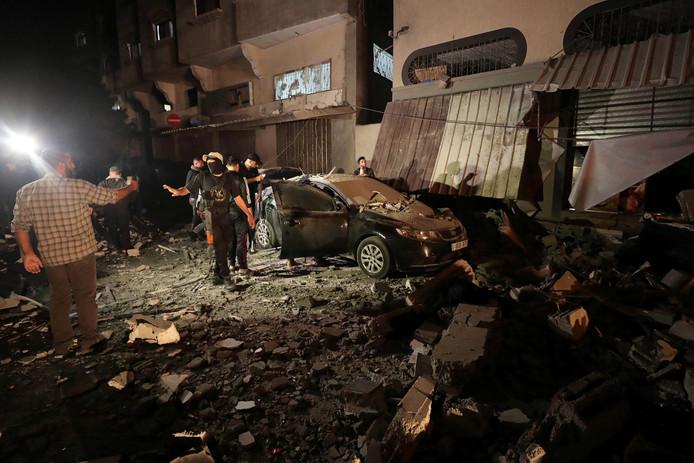 De aanval op het huis van commandant Baha Abu Al-Atta in Gaza.