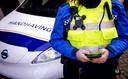 2019-02-07 15:29:40 BREDA - Een bodycam op het uniform van een boa in Breda. ANP XTRA ROBIN VAN LONKHUIJSEN