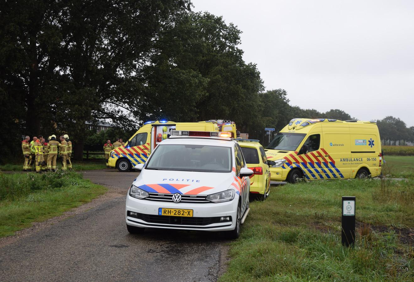 Veel hulpdiensten ter plaatse bij het ongeval