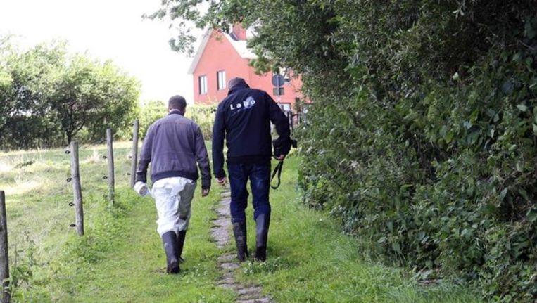 Sporenonderzoek in het natuurdomein De Wolfsputten in Dilbeek. (Archieffoto 2015)