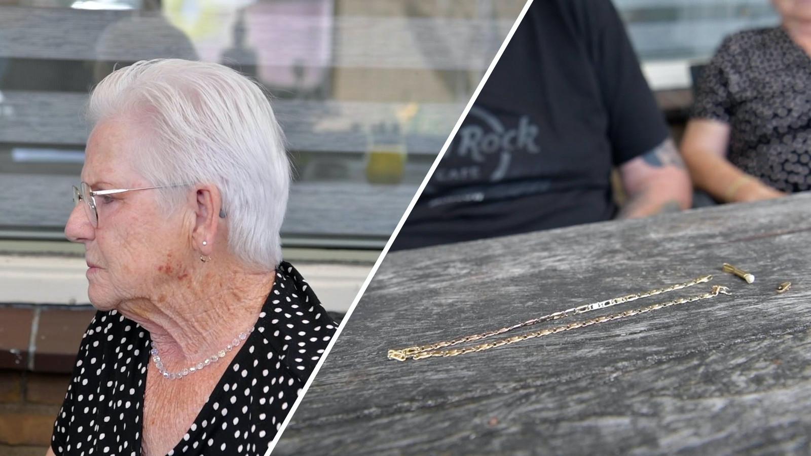 Ellie (80) werd slachtoffer van de kettingrukker.