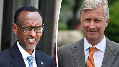 Omstreden Rwandese president Kagame op bezoek bij koning Filip