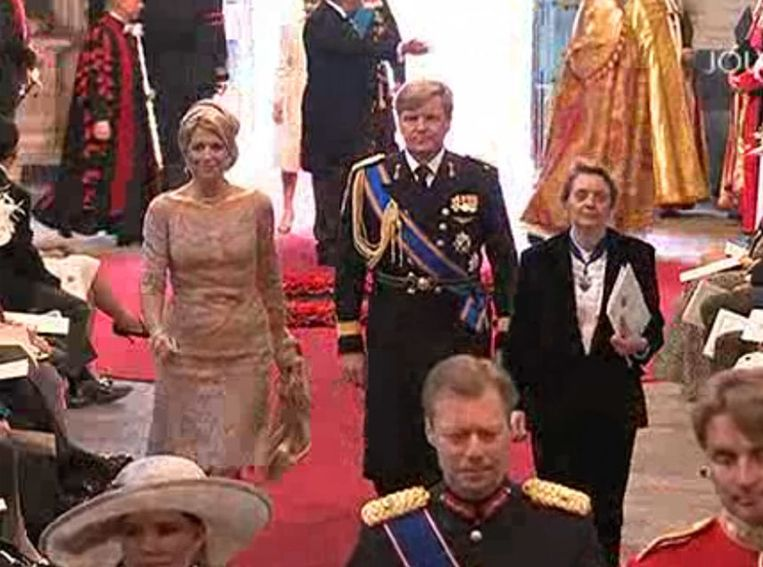 Prinses Maxima en Prins Willem Alexander. Screenshot NOS Beeld