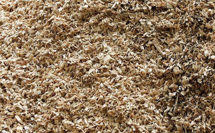 Houtsnippers, bron voor een biomassa-centrale.