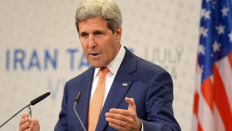De Amerikaanse minister van Buitenlandse Zaken John Kerry Beeld belga