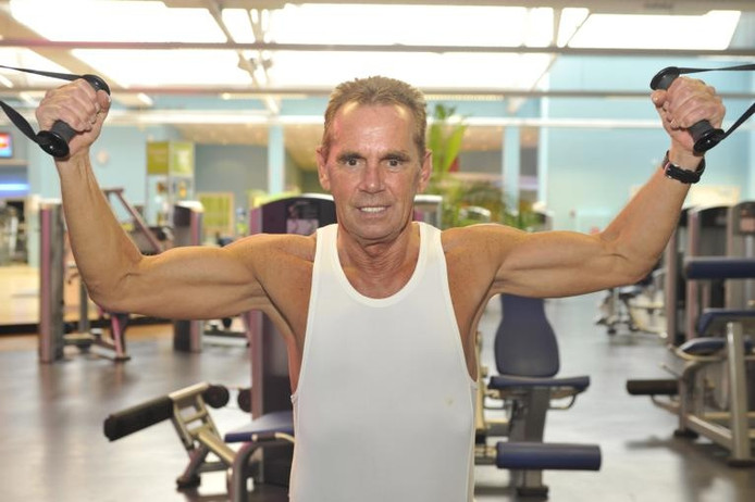 Miel Pijs traint nog elke dag in de sportschool. foto Jean Pierre Reijnen