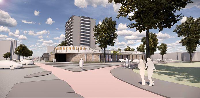 Een impressie van de nieuwe Jumbo in winkelcentrum Sterrenburg, op de hoek van de Planetenlaan en de Galileïlaan.