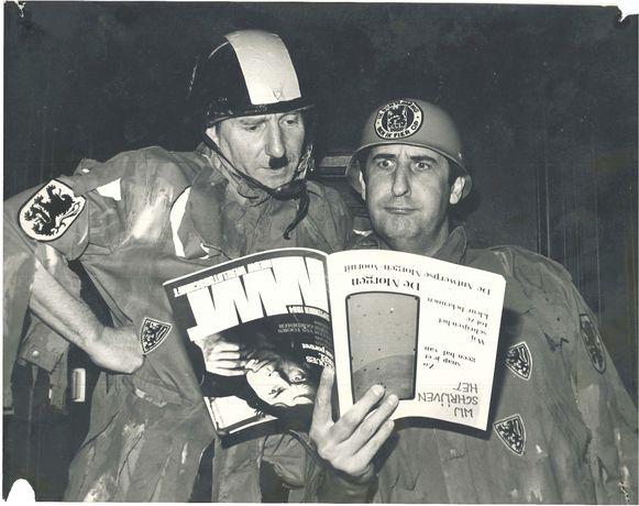 Max Schnur en Chris Cauwenberghs in een stuk voor De Zwarte Komedie.
