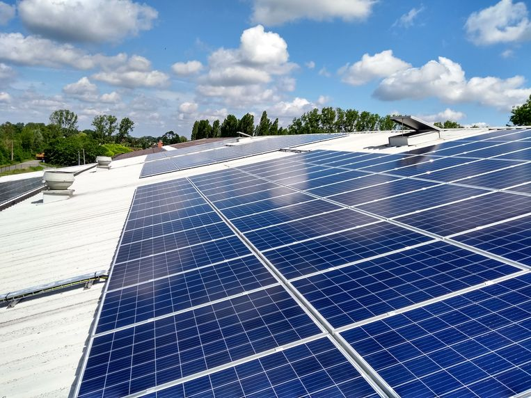 De zonnepanelen op Klein Boom