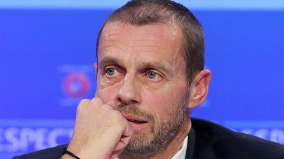 """UEFA weet niet wanneer er opnieuw gevoetbald wordt, maar """"we hebben een plan A, B of C"""""""
