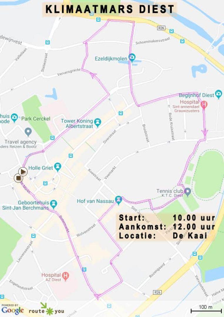 Het parcours staat op de gemeentelijke website.