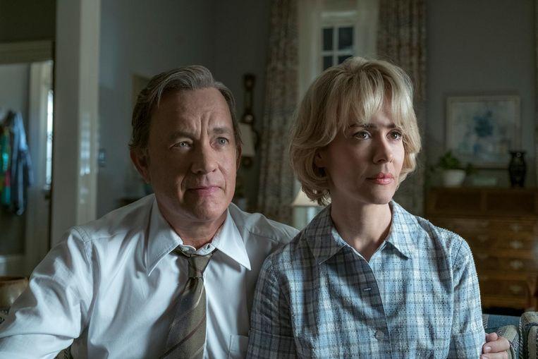 Tom Hanks als Ben Bradlee met Sarah Paulson als Tony Bradlee. Beeld