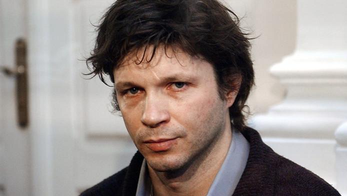 Bertrand Cantat, le 16 mars 2004, à l'ouverture de son procès, à Vilnius.
