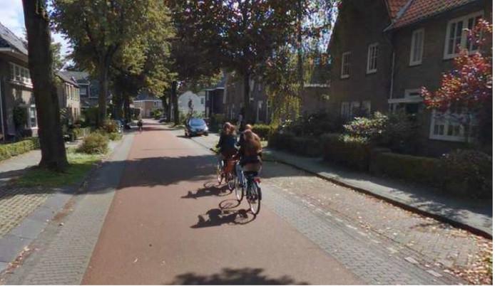 Een fietsstraat in Oss.