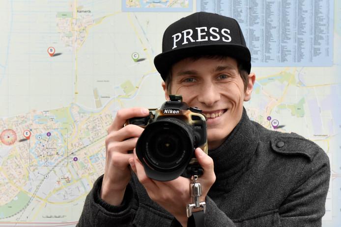 Fotograaf Justin Egberts staat dag en nacht paraat.