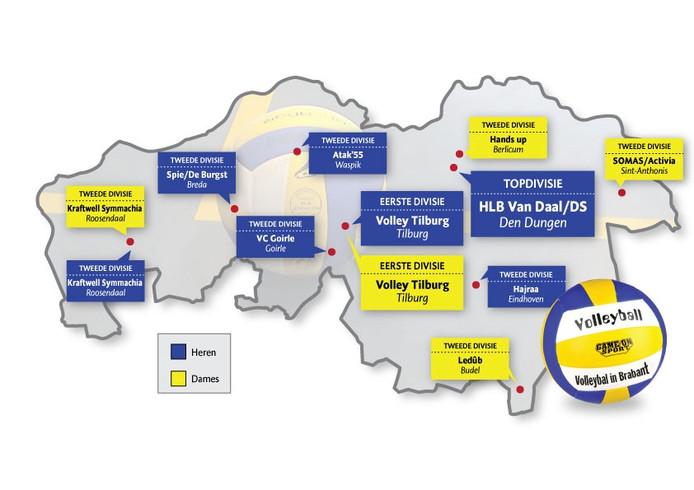 Vandaag de dag acteren nog slechts twaalf Brabantse teams op de vier hoogste niveaus van Nederland.