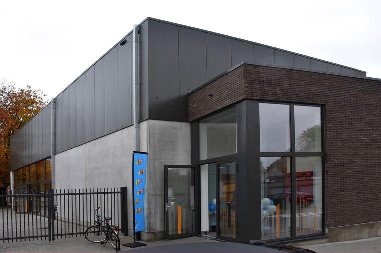 De nieuwe sporthal in de Albertstraat.
