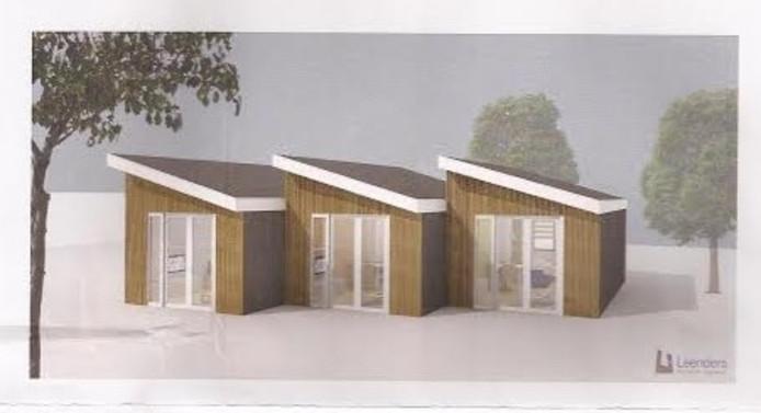 De gemeente Oss heeft plannen voor de plaatsing van deze 'statushoudershuisjes'.