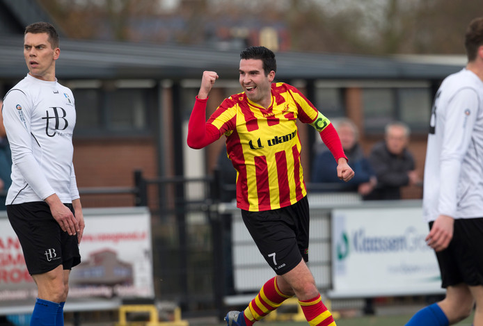 Kees van de Pavert scoorde twee keer voor SDOUC tegen Sparta Enschede.