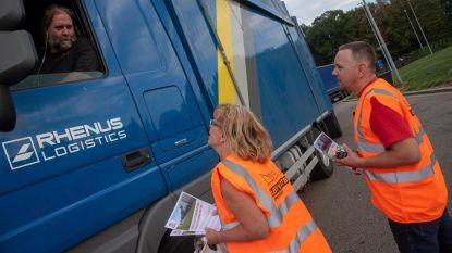 Transportsector voert actie tegen sluiting snelwegparking