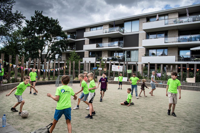 Een speelveldje in Nijmegen dat dicht moest vanwege geluidsoverlast.