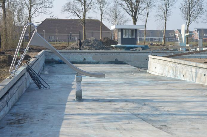 Renovatie van zwembad De Spetter, begin 2018.